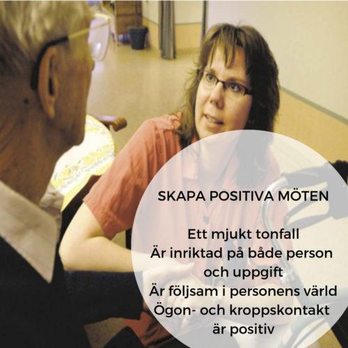 Bild med text om att skapa positiva möten